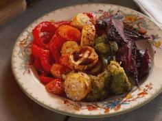 Rainbow Roasted Vegetables recipe from Nancy Fuller via Food Network