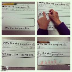 Writing activity: read it, write it, build it, draw it!