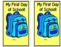 First Day of School: This is a mini book that your kiddos can color and keep to remember their first day of school. Although they may not be able to read the pages as yet, the pictures do tell a story. Of course it does not have to be completed in its entirety on the first day of school, but they can work on the pages bit by bit.