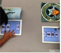 Using Popplet app in reader's workshop.
