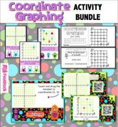 Coordinate Graphing Activity Bundle (CCSS 5.OA.3, 5.G.1) -  This title bundles together four individual, engaging activities to help students practice finding and plotting coordinate points on a graph. $