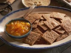 Homemade Orange Marmalade and Hand-Rolled Whole-Grain Crackers recipe from Nancy Fuller via Food Network