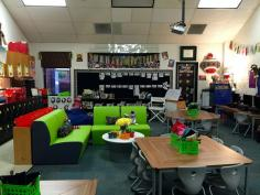 Love the mini couches in this classroom!