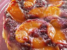 Fresh Peach and Blueberry Upside-Down Cake recipe from Nancy Fuller via Food Network