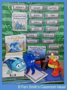 21 Writing Center Activities for your classroom. Shown: The Pout-Pout Fish! #TPT #Free and $paid
