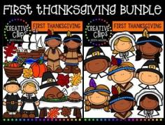 This 50-piece set is perfect for your Thanksgiving-themed resources! Included are 31 vibrant, colored images and 19 black and white versions (not shown in the preview). $