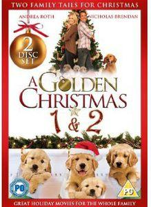 A double bill of festive family comedies. In 'A Golden Christmas' (2009), feeling that her life hasn't turned out the way she expected, recently widowed lawyer Jessica (Andrea Roth) goes to stay with her parents at Christmas time and soon discovers that her childhood home has been sold to a stranger. Determined to buy it back, she goes to increasingly elaborate lengths to succeed, including trying to get the new owner, Michael (Nicholas Brendon), arrested. But with sparks flying, events take an unexpected twist when Jessica discovers that Michael is actually her long-lost childhood friend and a very special golden retriever decides it's time to intervene. In 'A Golden Christmas 2' (2011), after moving to Florida with her three golden retreiver puppies, Mario, Luigi and Pasquale, Lisa (Julie Gonzalo) strikes up a friendship with her new neighbours Rod (Bruce Davison) and Alice (Alley Mills) and their dog Jake. While walking with the dogs one day, Lisa is shocked to spy her old boyfriend, David (K.C. Clyde), proposing to a woman at the local beach. Things quickly take a turn for the worse when the dogs run off, gatecrash the proposal, and cause the ring to be lost. With both old flames startled by their unexpected meeting, events over the coming weeks conspire to throw Lisa and David together again on a number of occasions, but with David's wedding looming, who will end up as his bride?