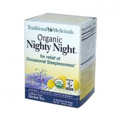Traditional Medicinals Organic Nighty Night Herbal Tea Description: Created by Herbalists Relieves Occasional Sleeplessness Naturally Caffeine Free Herbal Tea USDA Organic We get our passionflower form small farms in some of the most beautiful old farming villages in northern Italy. Walking amongst the rolling hillsides, we're always struck by the otherworldly beauty of Passiflora incarnata in bloom. Harvested from late spring through fall, the truly long vines of the passionflower plant are machine-harvested and hung up in the shade to air dry. The fruits are removed, but the rest of the aerial parts (leaves, vines and flowers) are cut and later blended with the other herbs in this tea to make the signature relaxing blend. Personality. Peaceful, soft and sleepy. Herbal Power. Helps you relax and get a good night's sleep. Reason to Love. Passionflower. We love it both for its wildly intense beauty and for its ability to calm and soothe your nervous system. When the Spanish missionaries changed upon it they saw the perfection of the universe reflected in its anatomical structure. The native people of the Americas used this plant for its ability to promote rest and relaxation - something modern people occasionally need help with too. We've added other relaxing herbs, like chamomile, linden flower and hops, to create a mellow blend that will help you rest easy. Taste. Minty, mildly bitter and sweet, with notes of citrus and spice. Disclaimer These statements have not been evaluated by the FDA. These products are not intended to diagnose, treat, cure, or prevent any disease. Traditional Medicinals Organic Nighty Night Herbal Tea Directions To Enjoy Pour 8 oz freshly boiled water over 1 tea bag. Cover cup and steep for 10-25 minutes. Squeeze tea bag to ensure maximum goodness in your cup. Enjoy 2-3 cups late in the day, including at least 1 cup 30 minutes before bed. For Adults Only! Nutrition Facts Serving Size: 1 Cup Servings Per Container: 16 Amt Per Serving% Daily Va