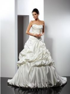 Ball Gown Cathedral Train Wedding Dress 51073