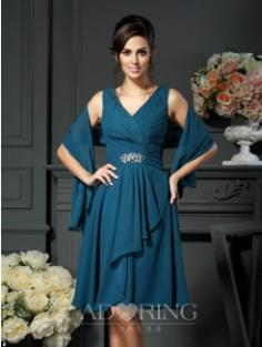 A-Line Knee-length Mother of the Bride Dress 50982