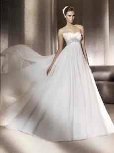 A-Lijn / Prinses Strapless Sleeveless De Chiffon Hof Train Wedding Dresses