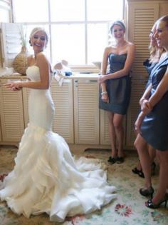 Gorgeous Mermaid Sleeveless Court Train Sweetheart Ruffles Satin Matric Dance Dresses For Wedding