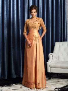 A-Line/Princess Sweetheart Taffeta Floor-Length Mother of the Bride Dress