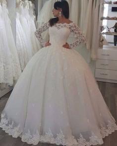 Elegant White Hochzeitskleider Mit Spitze Ärmel Prinzessin Brautkleider Günstig http://www.babyonlinedress.de/g/elegant-white-hochzeitskleider-mit-spitze-armel-prinzessin-brautkleider-gunstig-110266.html