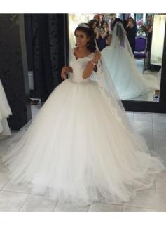 Mordern Hochzeitskleider Tüll Spitze Prinzessin Brautkleider Günstig