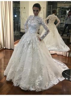 Vintage Brautkleider Mit Ärmel Weiße A Linie Hochzeitskleider Günstig