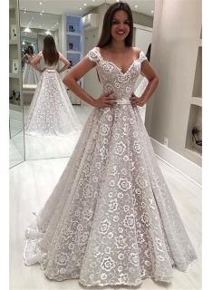 Designer Brautkleid A Linie   Elegante Hochzeitskleider Mit Spitze