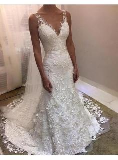 Fashion Brautkleider Mit Spitze   Hochzeitskleider Rückenfrei Online