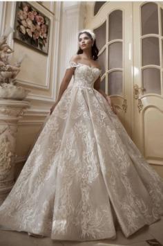 Brautkleid A Linie Spitze | Hochzeitskleider Günstig Online