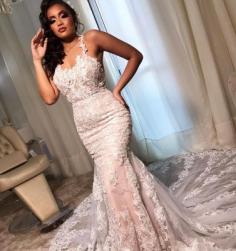 Brautkleider Meerjungfrau Spitze | Wunderschöne Hochzeitskleider Günstig