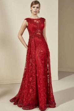 Abiballkleider Lang Rot | Elegante Abendkleider mit Spitze