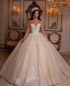 Prinzessin Hochzeitskleider Glitzer | Brautkleider Mit Ärmel