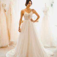Designer Brautkleider A Linie | Hochzeitskleider Tüll Spitze